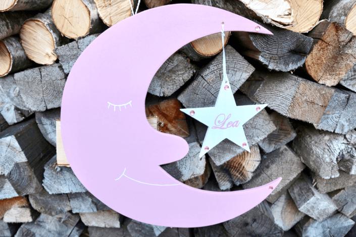 Mond Dekoration-Ideen fuer das Kinderzimmer