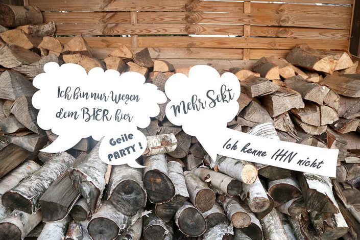 Hochzeitsdekoration Holzschilder für Fotobox Hochzeit - Holzmitliebe