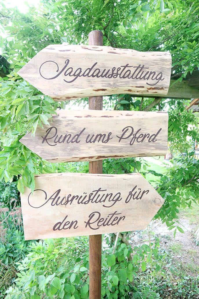 Wegweiser Holzpfeile Liebevoll Handgefertigte Holzdeko